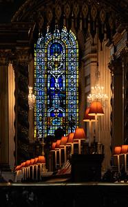 St Pauls Choir Stalls by lamplight_Yvonne Marr