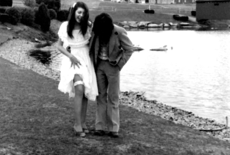 taken on April Fools' Day...well [27] years ago: 4.1.81<br /> <br /> 'fools in love' <br /> <br /> (my dad took the pic)