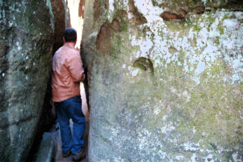 between a rock...