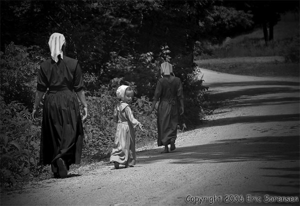 """""""Walking Home from Church""""<br /> by Eric Sorensen<br /> 1st place - Large Monochrome 2007 Annual Competition"""