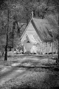Church in the Woods By: Wilfred Smith Catagory:  Small Black & White 1st Place 2008 Annual Competition
