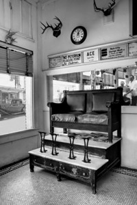 Barbar Shop and Shoe Shine Stand By Wilfred Smith 2nd Place Large Monochrome