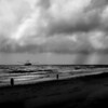 Galviston Beach Storm<br /> By Wilfred Smith<br /> 3rd Place <br /> Large Monochrome