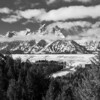 Monochrome/Black & White, Second Place - Jim Lawrence - Grand Teton in Clouds