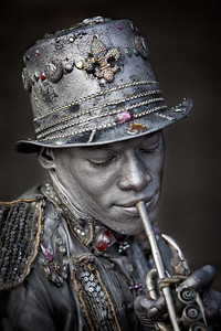Portraiture, First Honorable Mention - Brian Buckner - Silver Man
