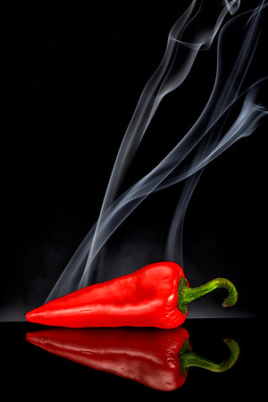 MACRO/CLOSE UP: FIRST HONORABLE MENTION: Smoking Hot: by Brian Buckner: 18.3: