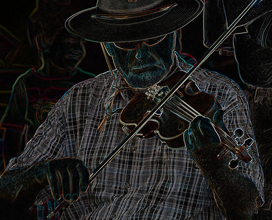 ALTERED REALITY: FIRST PLACE: FIDDLIN IN THE MARKET: by Linda Holloway: 19: