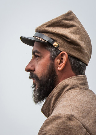 PORTRAITURE: Third Place: Civil War Profile: by Don Angle: 14: