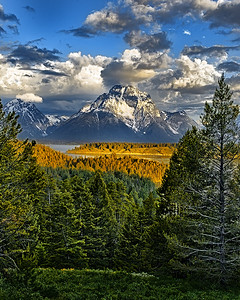 LANDSCAPE/CITYSCAPES/TRAVEL: Third Place: MOUNT MORAN SUNRISE: by Wayne Tabor: 18:
