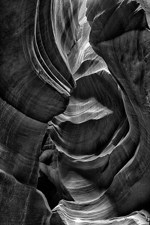 MONOCHROME/BLACK & WHITE: Third Place: Antelope Stair Case: by Edie Buckner: 16.8: