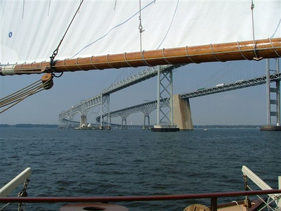 Chesapeake Bay Bridge from the Schooner Mystic Whaler