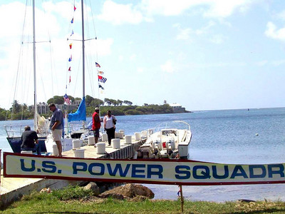 The St. Croix Power Squadron, USVI, held a party to christen sailboat, Inmotion.