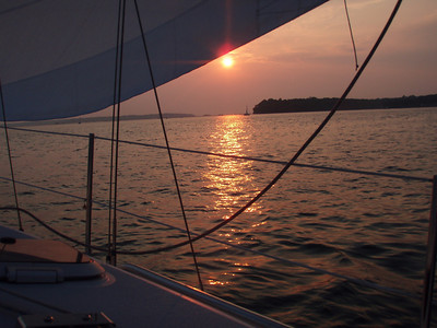 Sunset sail in Northport