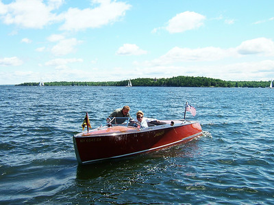 "Maiden Voyage on Lake Champlain of 1939 HackerCraft ""Imp"" after restoration"