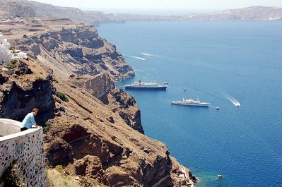 Caldera on the Greek Island of Santorini