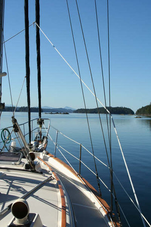 A peaceful anchorage at Princess cove on Wallace Island in Trincomali Channel, British Columbia, Canada.