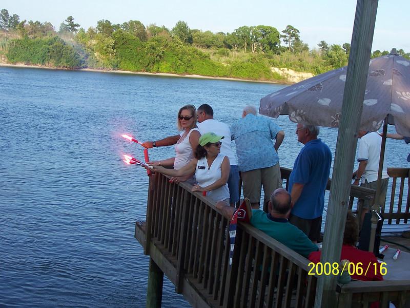 Practice with handheld flares