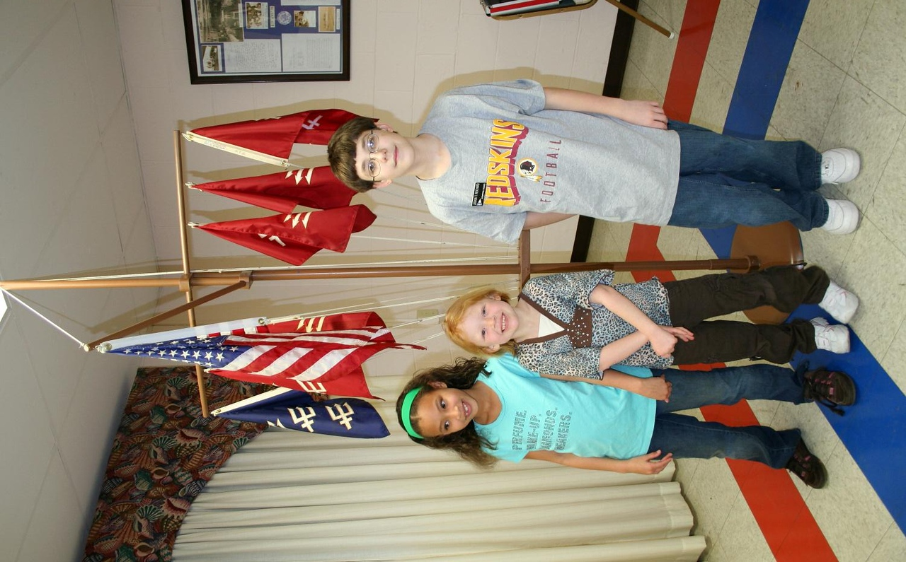 Our future. Young members attend squadron meeting.