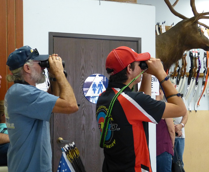 "This one may be my ""money shot"" -- father and son checking out the target!"