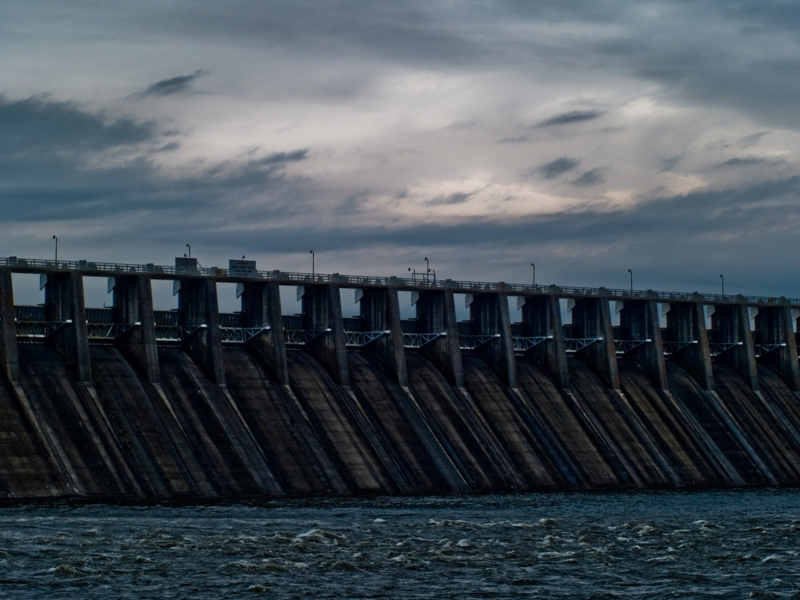 """#10 """"After the Storm"""" by Bonanno. Using LR 2 I did some graduated filtering on the sky, softening & spot removal on the dam, and bumped up gamma 0.25 with PMView."""