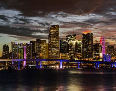 2 Downtown Miami Skyline