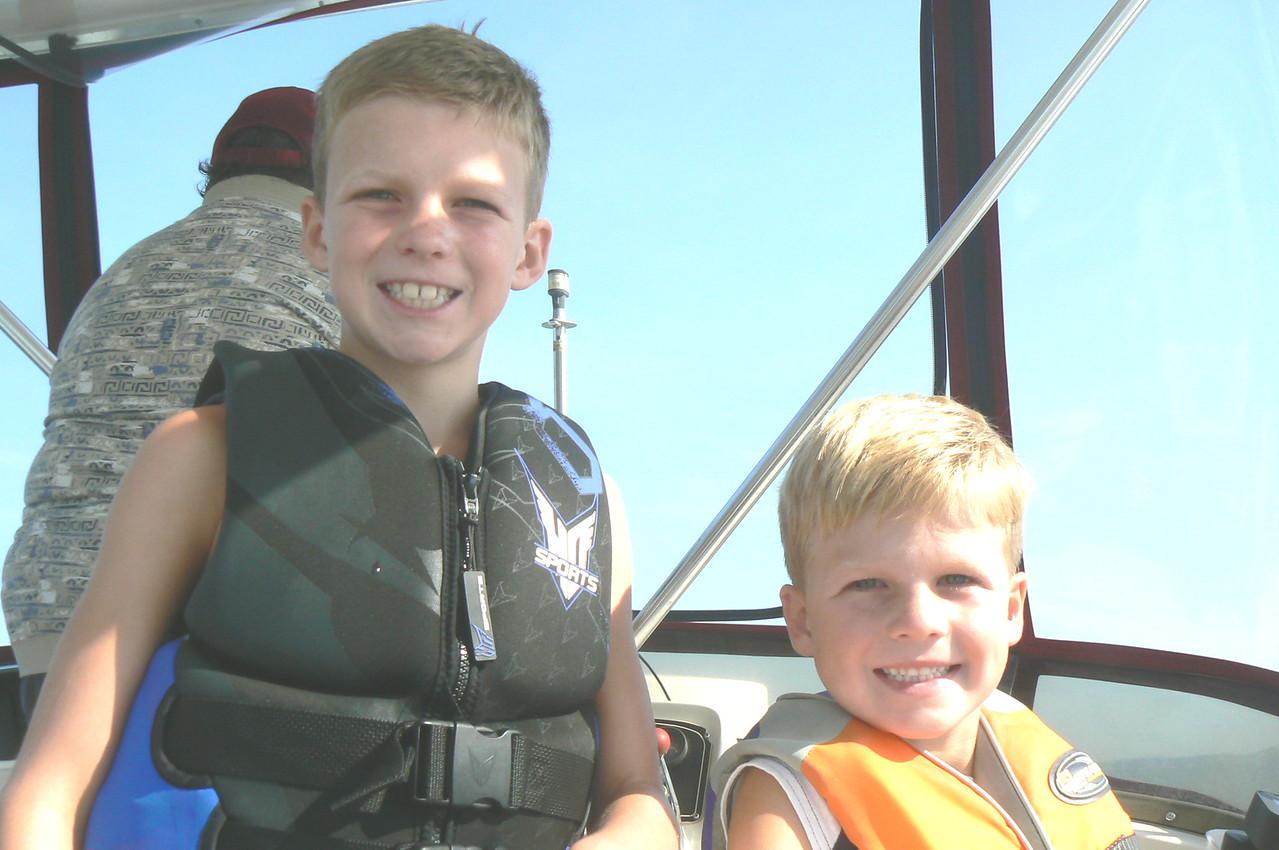 We have fun on Grandpa's boat!