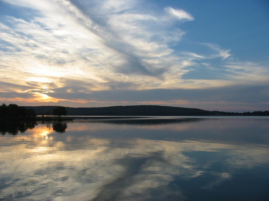 Sunset at Redbud Cove, Kerr Lake, Sallisaw, Okla.