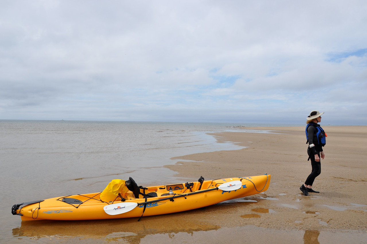 You can reach the most perfect places by kayak.