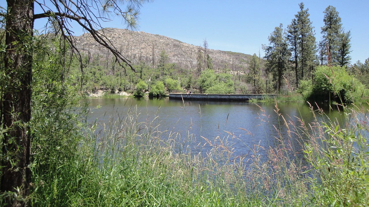 A squadron clean up at Horsethief Lake in the Bradshaw Mountains outside of Crown King, Ariz.