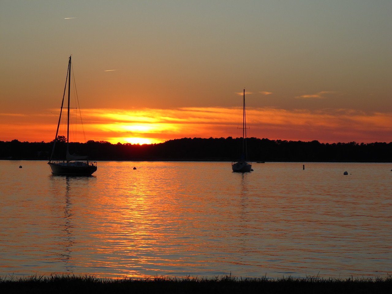 Sunset anchorage in Oxford, Md.