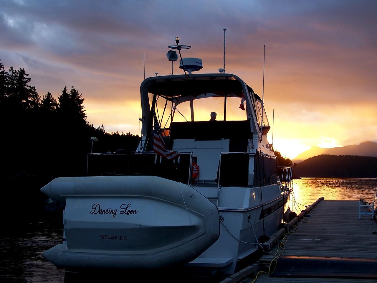 Sunset at Egmont, B.C.
