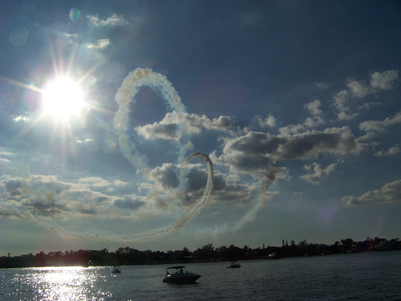 Squadron boats enjoy the air show in Port Saint Lucie, Fla.