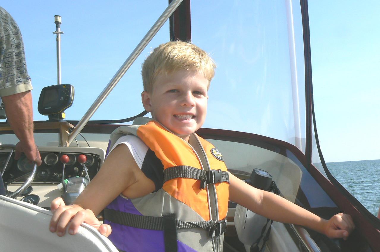 Grandpa's boat is fun!