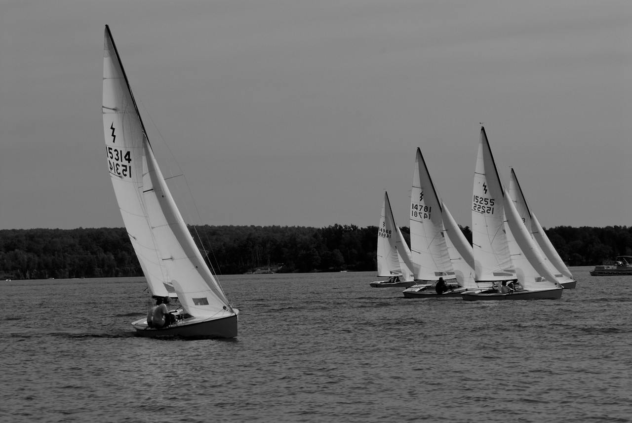 Lightning Regatta Races on Lake Delta in Rome, N.Y. The fleet is one of the nation's oldest.