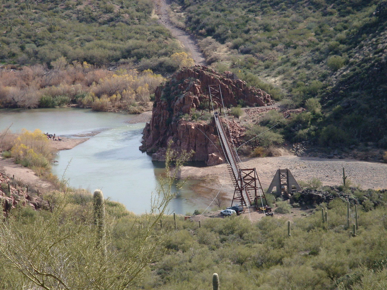 The Verde River is great for rafting when the water is up.