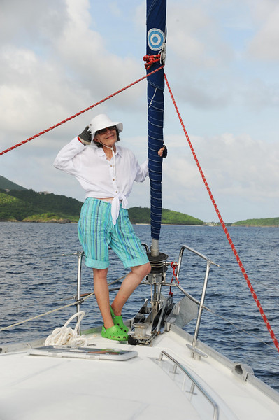 Sailing the warm Virgin Island water aboard a Beneteau 43 ... life doesn't get much better.