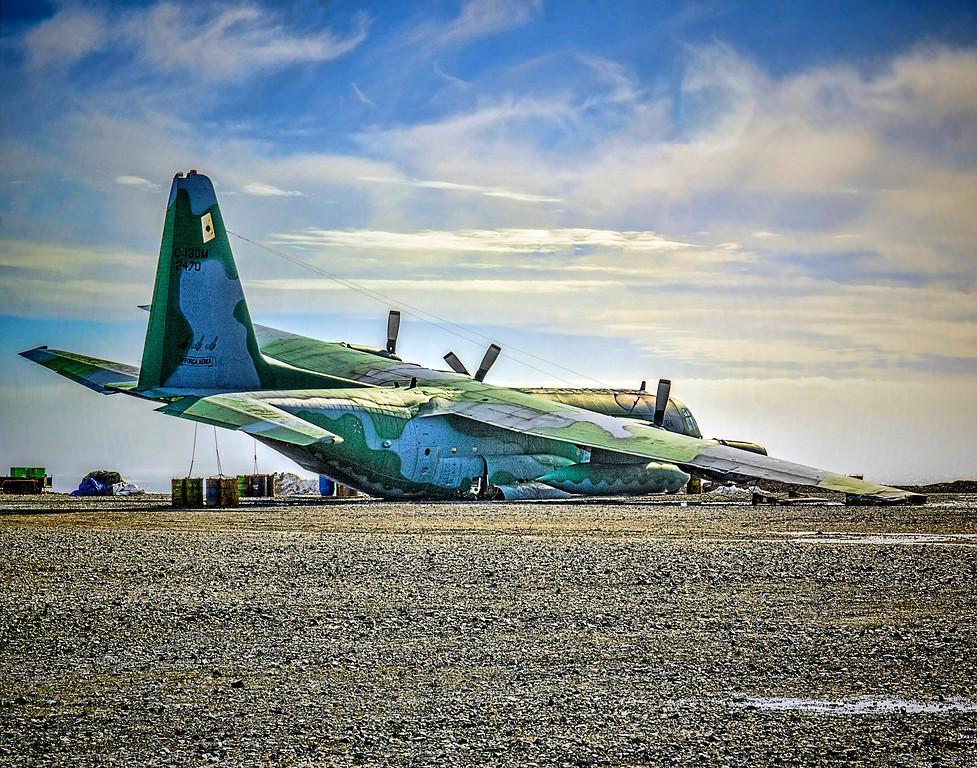 6. Crash Landed Military Plane