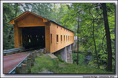 Another covered bridge photographed in Ashtabula County, Ohio.