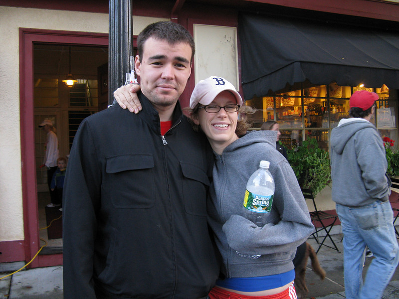 Erin and Mike before the race.