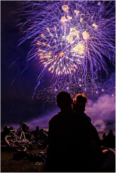Watching Fireworks at Assiniboine Park
