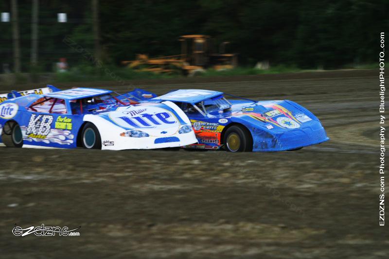 """Photography by BluelightPHOTO.com"" Photos by Filip Pesek <br /> Delaware International Speedway Auguest 12, 2006 Kerry King #K&B & Ricky Elliott #91l late models"