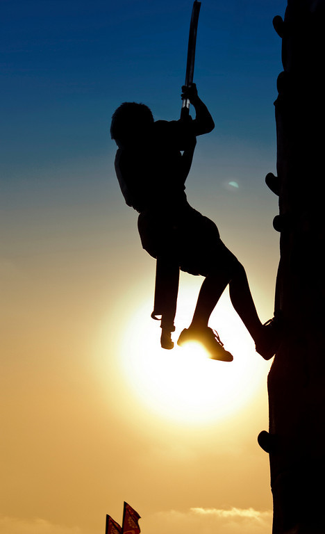 Climbing on the sun.