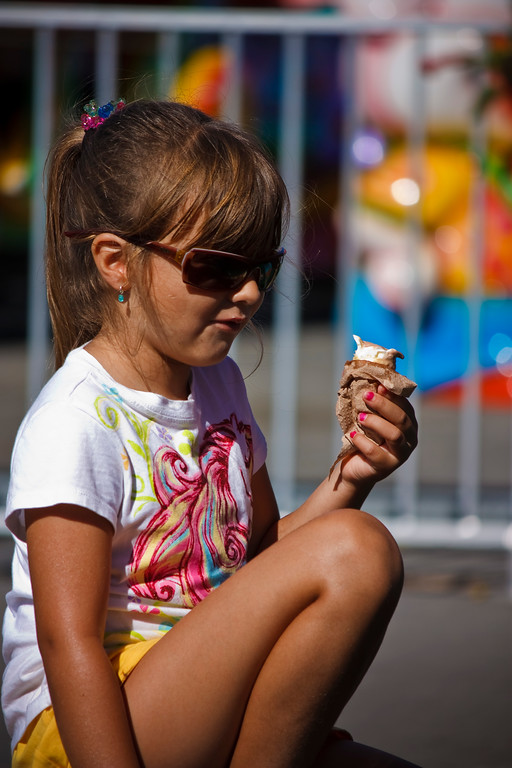 Ice cream on a hot summer day.