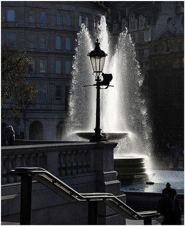 """First Place: """"Trafalgar Fountain"""" by Terry Stoten"""