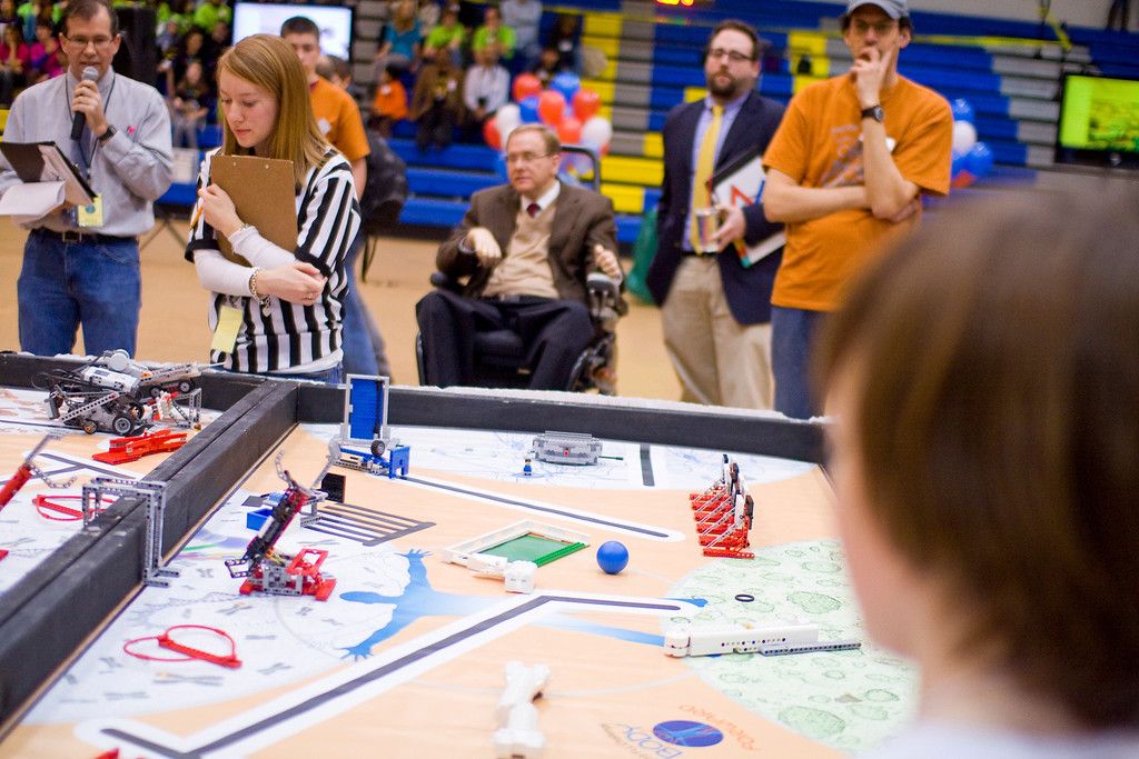 First Lego League youth robotics competition held at Roger Williams University in Bristol Rhode Island January 15, 2011.© Ryan T. Conaty 2011. All rights reserved.