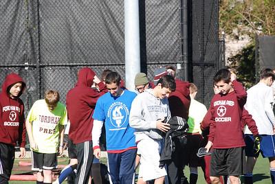 Fordham JV team  day before playoff