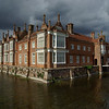 Buildings - Helmingham Hall. The Hall dates from 1511; the moat predates it and is thought to be of Saxon origin. It's set in beautiful gardens. This gained third place - I like the colourt of the building against the greys of the sky and water!