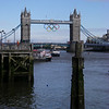 "Buildings. Tower Bridge in Olympic plumage. Highly commended ""good rendition of Tower Bridge in context""."