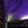 Buildings. Kings Cross Station at night, February 2013. The spectacular new concourse.