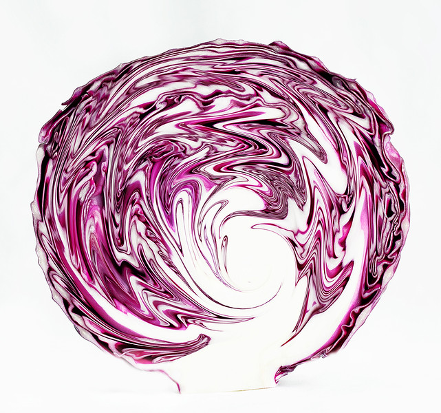 Art of Red Cabbage-abstract 5 (Class: B AW)
